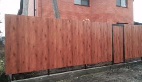 Забор из профнастила в Краснодаре ЗП-16
