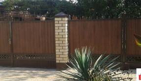 Забор из профнастила секционный ЗП-8