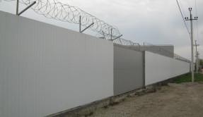 Забор из профнастила промышленный ЗП-11