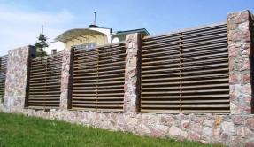 Забор из дерева Лесенка ЗД-3