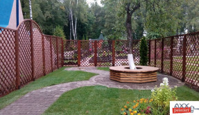 Забор из дерева Шахматка ЗД-6