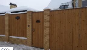 Забор из дерева Блок-хаус ЗД-7