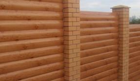 Забор из дерева Под бревно ЗД-9