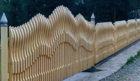 Забор из дерева Авторский2 ЗД-11