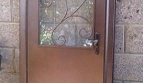 Дверь металлическая ковка стекло ДМ-4