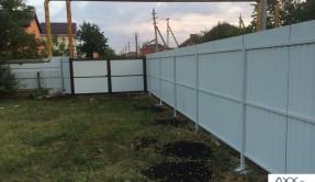 Забор из профнастила в Краснодаре ЗП-15